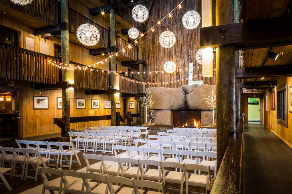 Located In The Bear Valley Lodge This Gorgeous Venue Gives A Rustic Feel And Is Complete With Stunning Four Story Fireplace Build From Native Granite