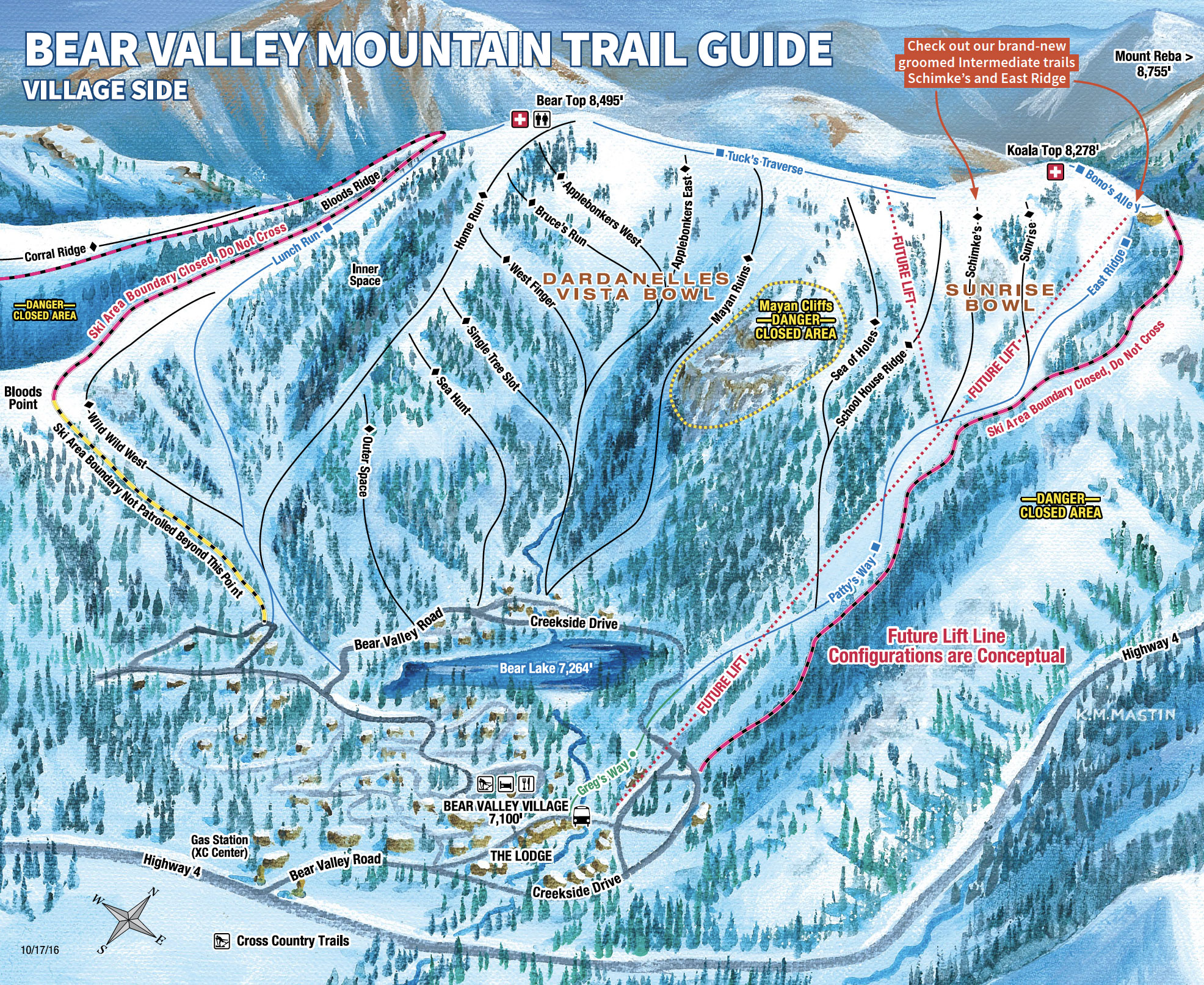 Lifts Trails Bear Valley